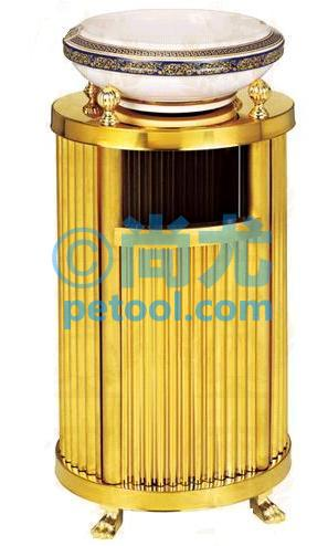 国产金色圆柱形酒店垃圾桶(l280*w280*h710mm)