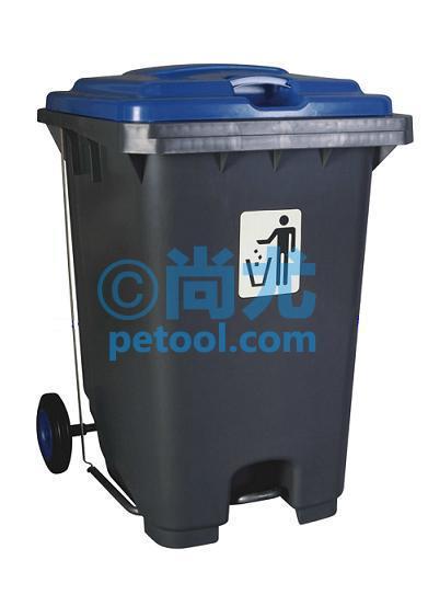 国产120/240l加强型机械脚踏垃圾桶