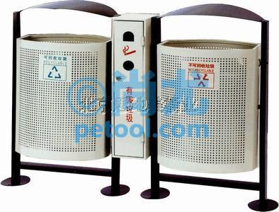 国产金属带电池/烟蒂收集分类垃圾桶