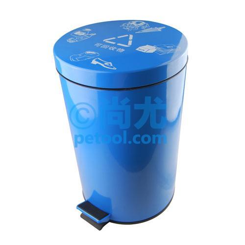 国产蓝色可回收物-分类脚踏垃圾桶(5-30l)