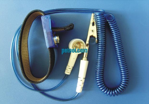 国产深蓝银纱防静电腕带