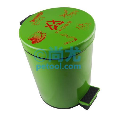 国产绿色不可回收物-分类脚踏垃圾桶(3-20l)