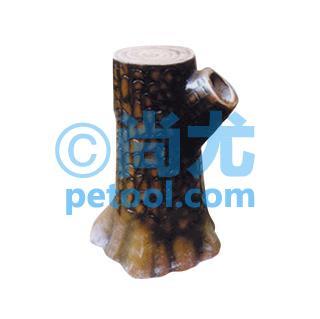 国产树桩型侧投式玻璃钢垃圾桶(l560*w360*h850mm)