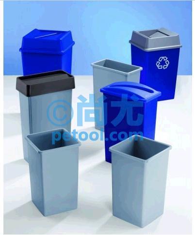 美国塑料分类垃圾桶(72l/87l/132l)