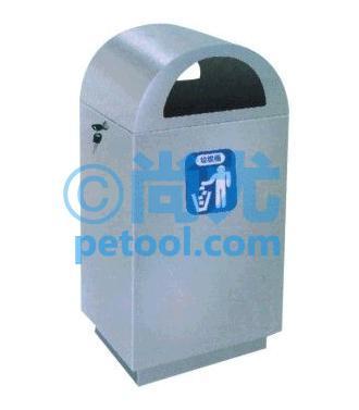国产不锈钢弧形顶方形垃圾桶(l400*w320*h900mm)
