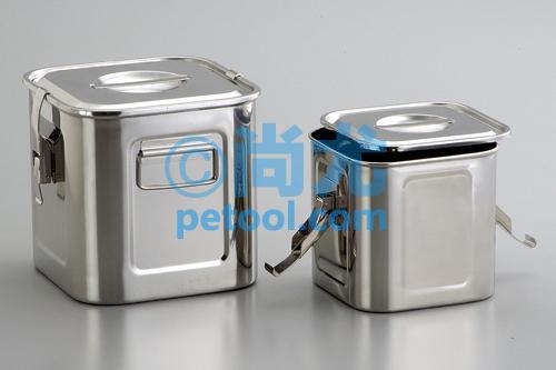 日本方形304不锈钢储存桶(1.1-46l)