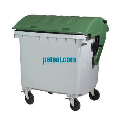可移动方形垃圾桶 03 国产四轮带盖移动式垃圾箱