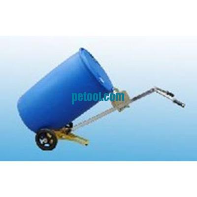 国产手动鹰嘴式双轮塑料油桶搬运车