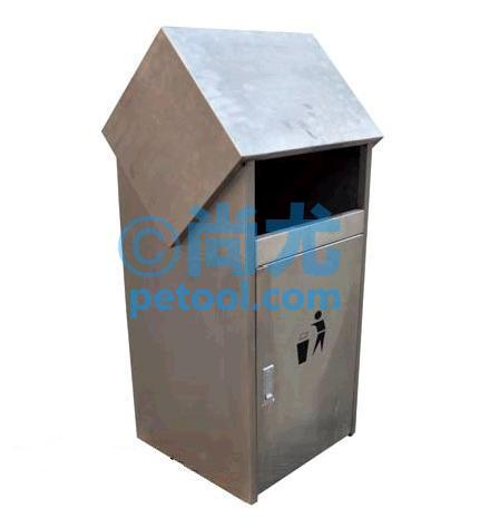 国产圆形底座不锈钢垃圾桶(Φ350*h900mm)