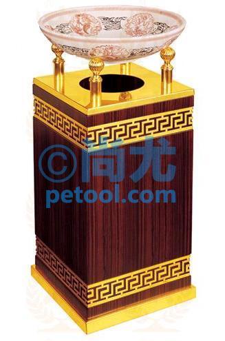 国产圆形瓷盆烟灰盅上投口垃圾桶(ф340*h710mm)