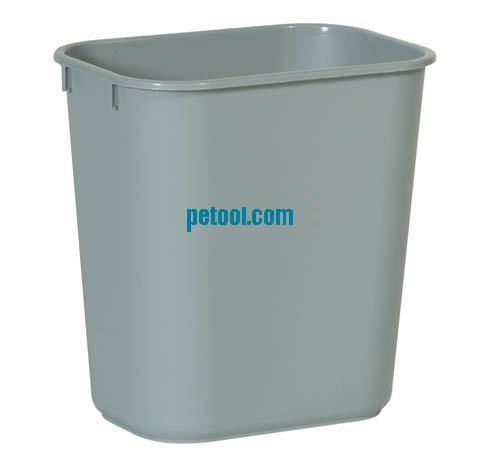 美国灰色方形塑料垃圾桶(26.6l)