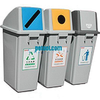 国产分类回收塑料垃圾桶(50l)