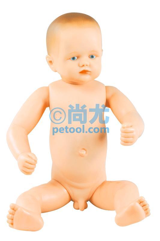 尚尤提供高级出生婴儿模型(男女婴任选),模型特点: 本模型由进口PVC材料经模具浇模而成。具有形象逼真、操作真实、 结构合理和经久耐用等特点。 适用范围: 1、适用于高等医学院校、助产类、儿科等专业临床教学示教及 学员实践操作训练使用。 2、医院临床妇产科、儿科等医务工作者临床实践操作训练。 3、基层卫生单位临床医学普及培训实践操作训练。 产品功能: 本产品可作为婴儿洗澡,更换衣物和尿片、眼、 耳护理以及指导哺乳训练和示教的工具。 技术参数: