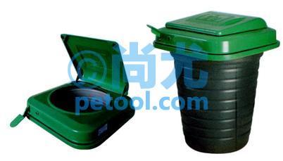国产全金属桶身方形地埋式垃圾桶(120l)