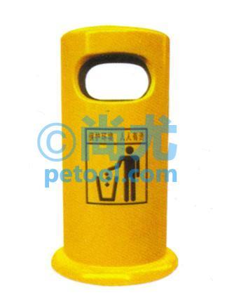 国产黄色圆柱形垃圾桶(Φ360*h820mm)
