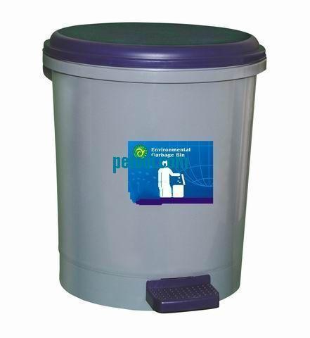 德国圆形灰色脚踏式塑料垃圾桶(9l/19l)(sku:00158060)