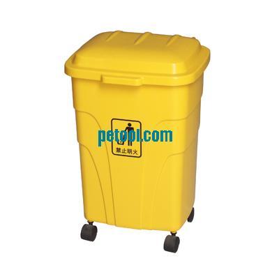 国产多色四轮可移动垃圾桶(70l)