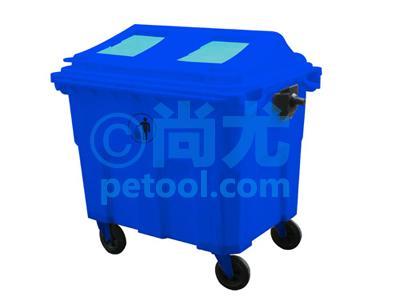国产大型可移动塑料垃圾箱(600l/1100l)