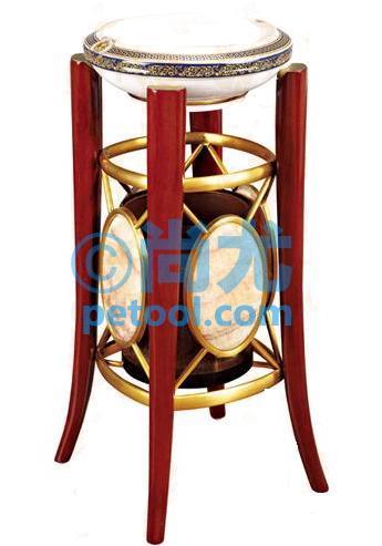 国产鼓形座底垃圾桶(Φ320*h800mm)