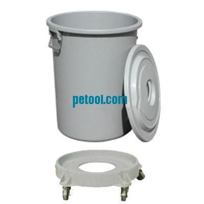 国产灰色圆形可移动贮物桶(126/210l)
