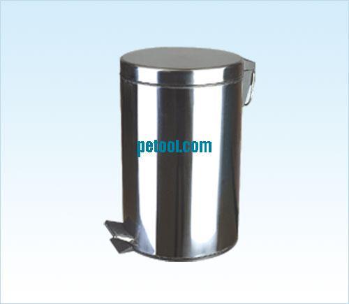国产圆形不锈钢脚踏垃圾桶(12l)