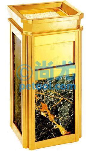 国产金色圆柱形酒店垃圾桶(Φ330*h740mm)