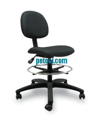 黑色布料带圆形脚踏工作椅