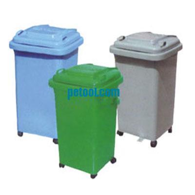 国产四轮塑料可移动垃圾桶(60l)
