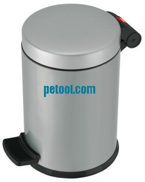 德国灰色钢质脚踏式垃圾桶(4l)